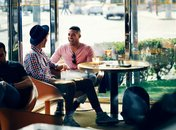 Couple at Bar Dupont in Dupont Circle, Washington DC