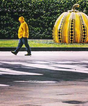 @anuindc - Yayoi Kusama's Pumpkin at the Hirshhorn Museum & Sculpture Garden - Washington, DC