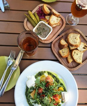 Due South - Beer Chicken Liver Pate Salad - Capitol Riverfront - Washington, DC