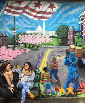 @erica.pence - Mural at Barracks Row on Capitol Hill - Neighborhoods in Washington, DC