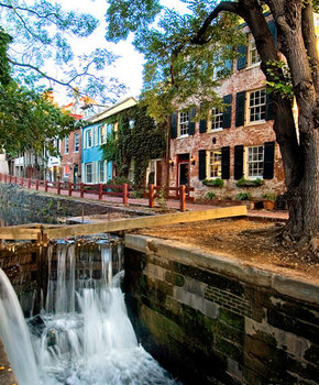 C&O Canal in Fall - Georgetown - Washington, DC