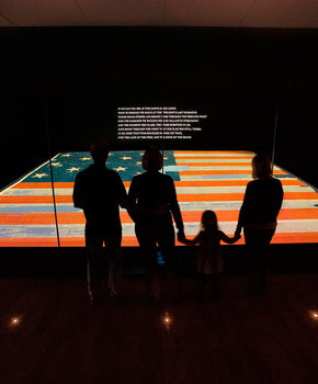 Star Spangled Banner Exhibit with Actual Flag