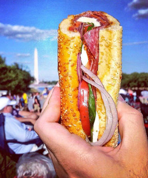Taylor Gourmet Sandwich on the National Mall