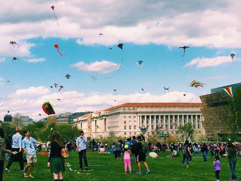 @alinarose - National Cherry Blossom Festival Kite Festival - Spring in Washington, DC