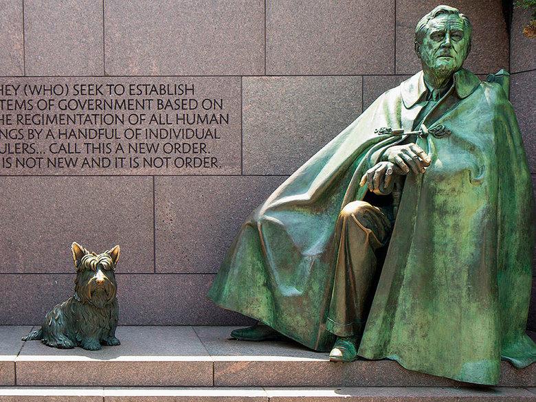 FDR Memorial Statue in Washington, DC