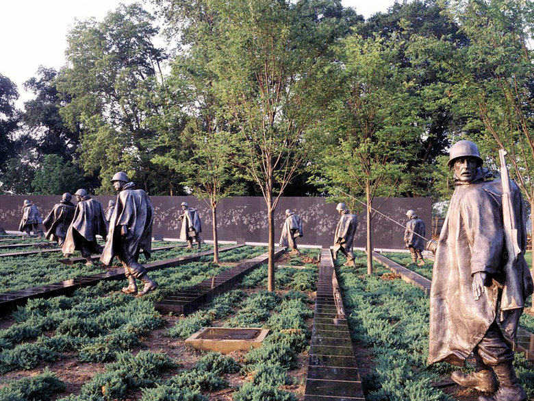 Korean War Memorial in the National Mall