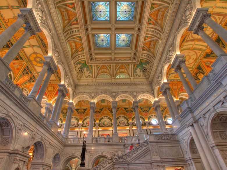 Great Hall at the Library of Congress - Washington, DC