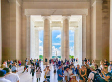 Visitors at the Lincoln Memorial - Free Things to Do in Washington, DC