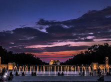 @marco.photos - National World War II Memorial and Lincoln Memorial at sunset - Washington, DC