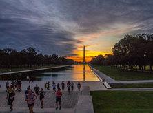 national mall early sunrise