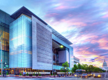 Newseum exterior at sunset - Museums in Washington, DC