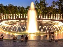 @ray.payys - World War II Memorial on National Mall at night - Washington, DC