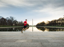 Running On NAtional Mall-Photo Kate Warren