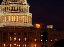 U.S. Capitol - Full Moon - Washington, DC