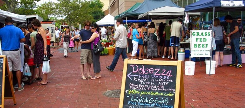 Enjoy farm-fresh produce at a local farmers' market