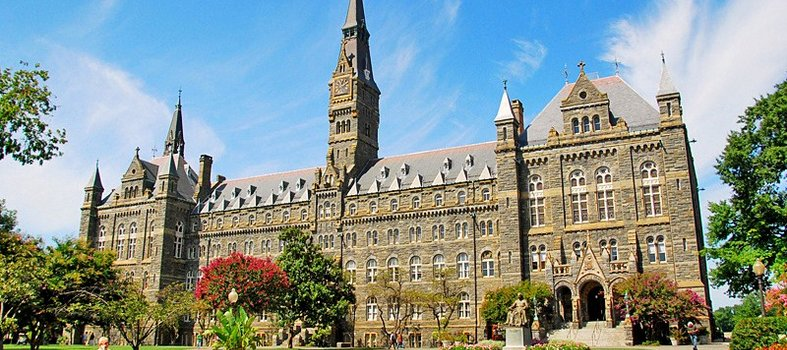Walk on the Georgetown University campus