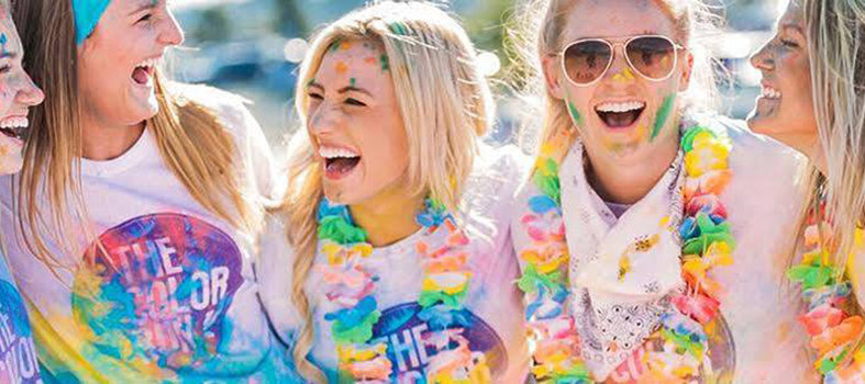Be a rainbow runner at The Color Run