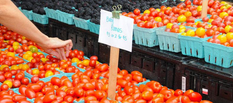 Head to the Saturday farmers' market