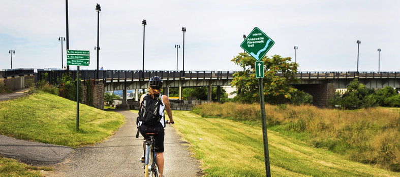 Rent a bike and ride (or walk) along the river trails