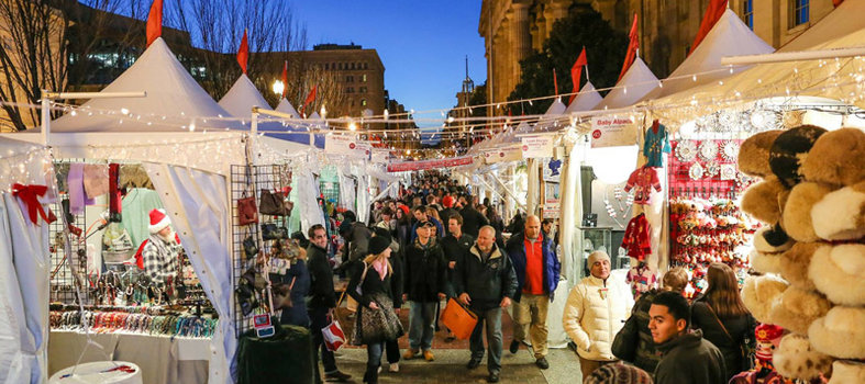 Get to the Downtown Holiday Market frequently