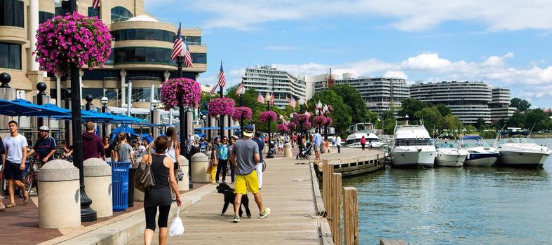 Hang out at The Washington Harbour in Georgetown