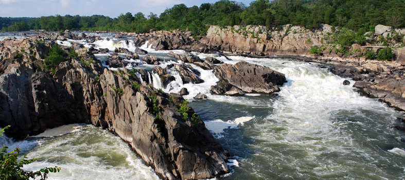 Experience Great Falls Park, just outside of DC