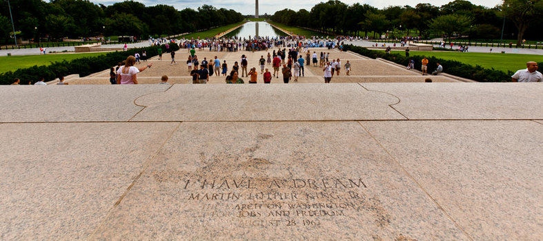 "Spot the ""I Have a Dream"" steps at the Lincoln Memorial"