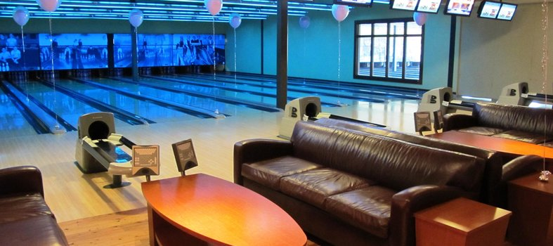 Hit some pins or roll some balls at Pinstripes