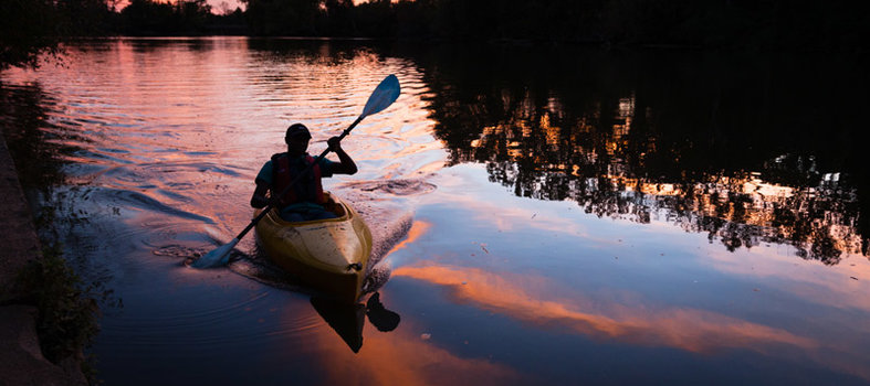 Go on a sunset kayak tour of the Anacostia River
