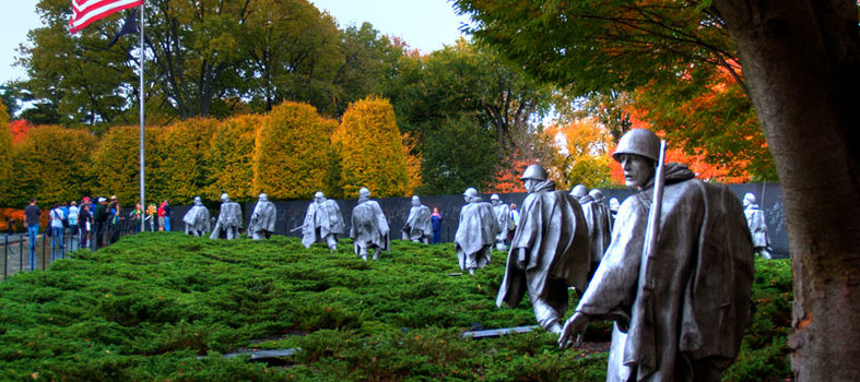 Wander Through the Korean War Veterans Memorial