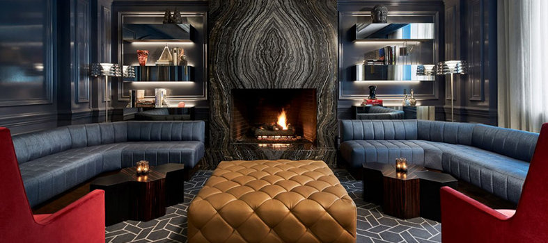 Cozy up by the fire at Quadrant Bar & Lounge