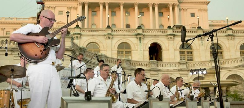 Salute the U.S. Navy Band throughout town