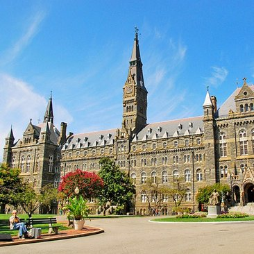 Georgetown University Campus with students