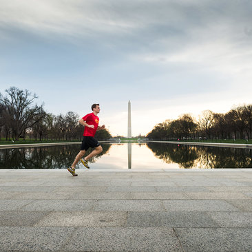 Running On NAtional Mall-Photo Kate Warren
