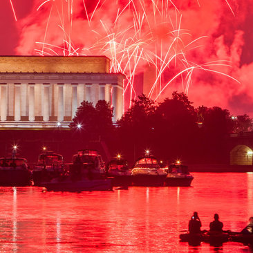 Fourth of July Fireworks over the Lincoln Memorial - Things to Do Independence Day Weekend in Washington, DC