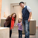 Family at the Freer Gallery of Art on the National Mall - Smithsonian Museum in Washington, DC