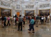 Group Touring the Capitol Rotunda - United States Capitol Building - Washington, DC