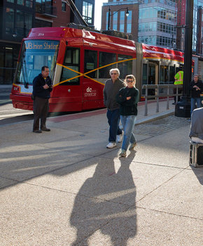 Washington, DC Streetcar along H Street NE