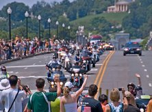 Rolling Thunder Memorial Day Route over the Arlington Memorial Bridge